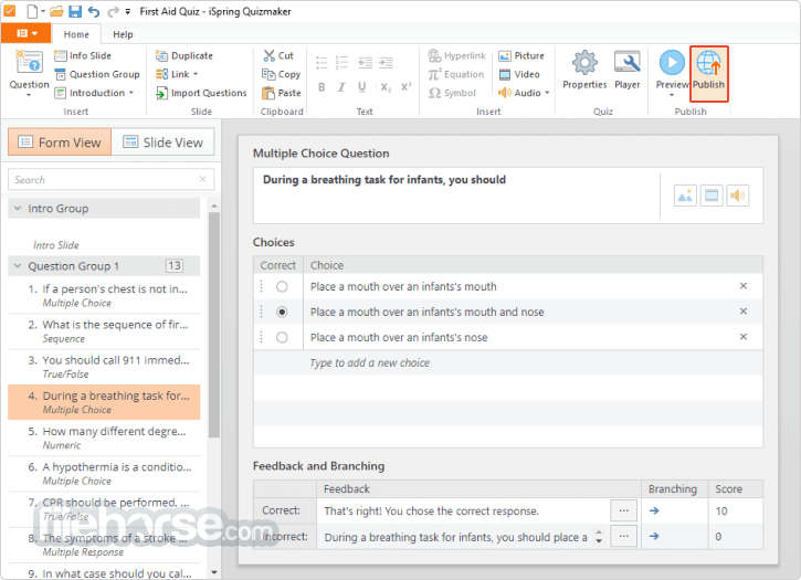 iSpring QuizMaker 9.7.0 Screenshot 5