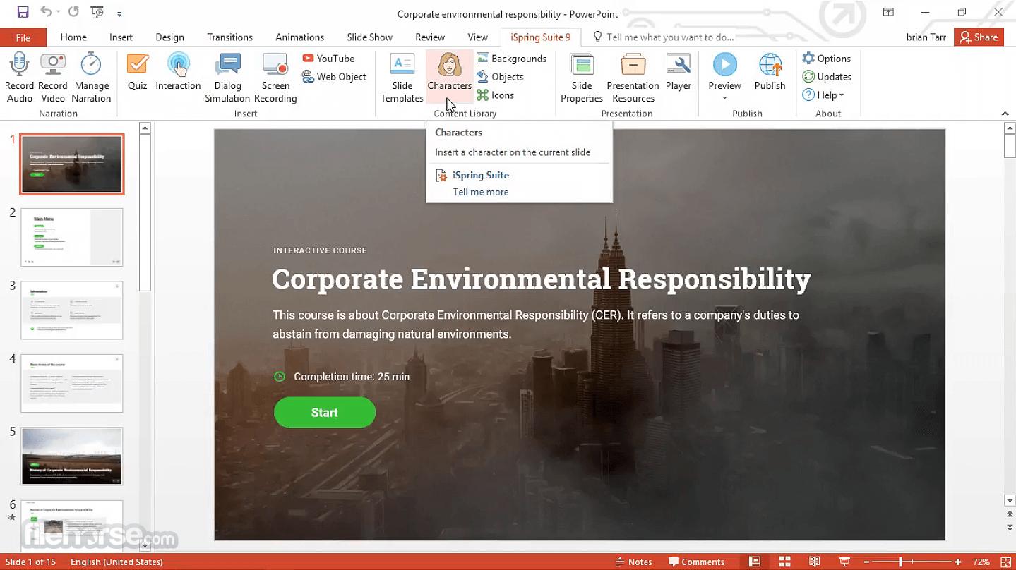 iSpring Suite 9.7.10 Screenshot 1