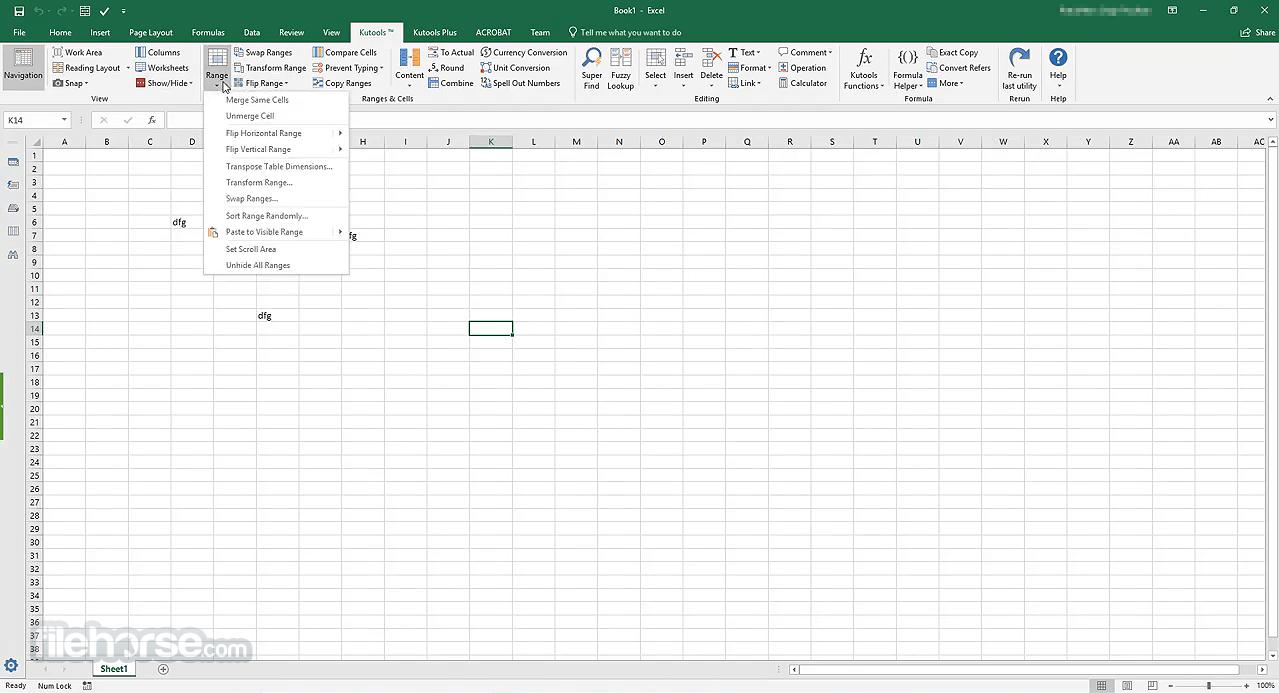 Kutools for Excel 23.00 Captura de Pantalla 1