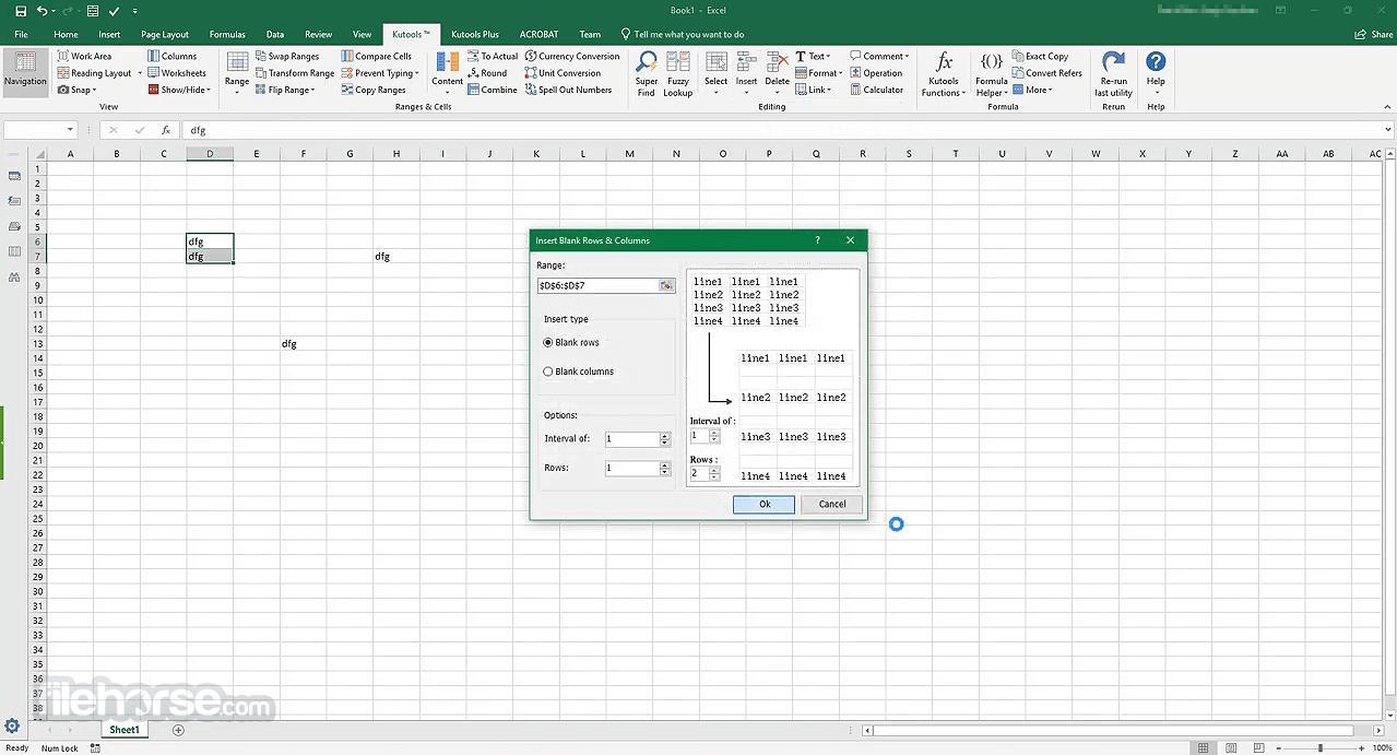 Kutools for Excel 23.00 Captura de Pantalla 2