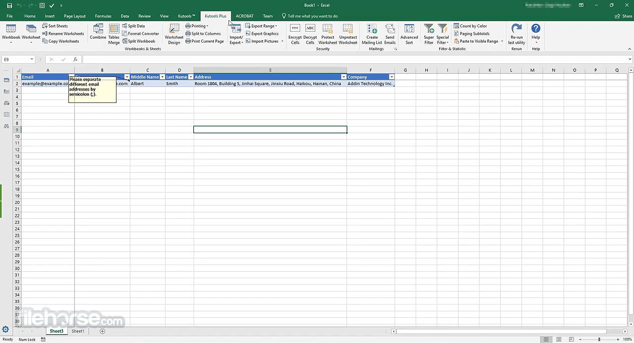 Kutools for Excel 23.00 Captura de Pantalla 3