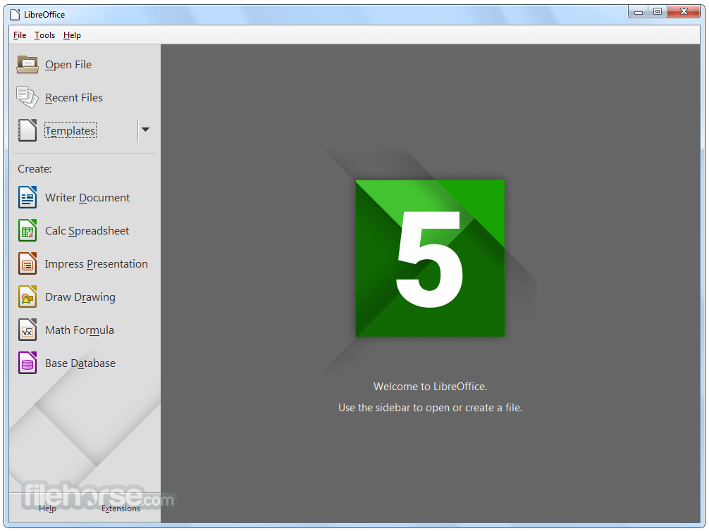 LibreOffice 5.4.3 (32-bit) Screenshot 1