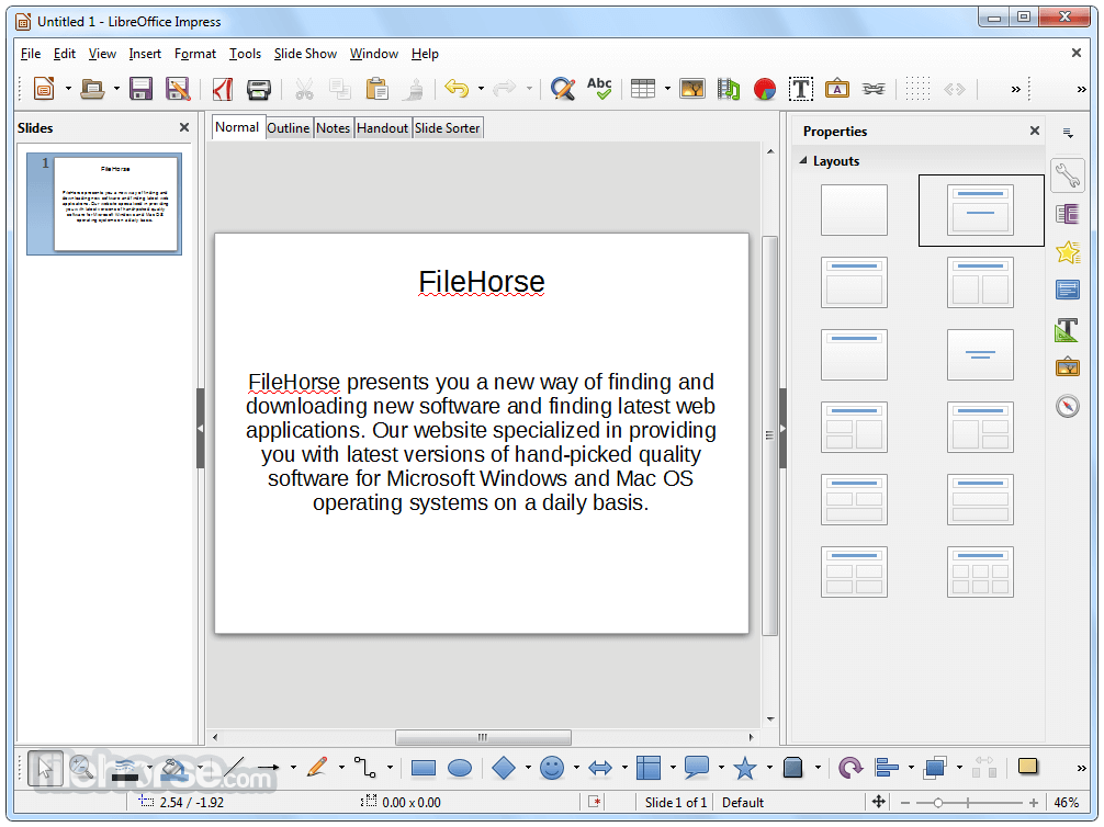 libreoffice 5.4.2
