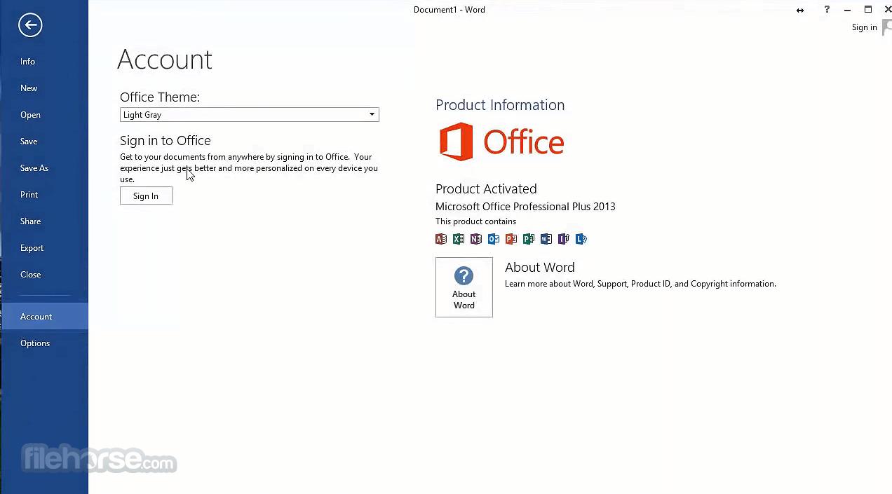 Microsoft Office 2013 SP1 (64-bit) Screenshot 3