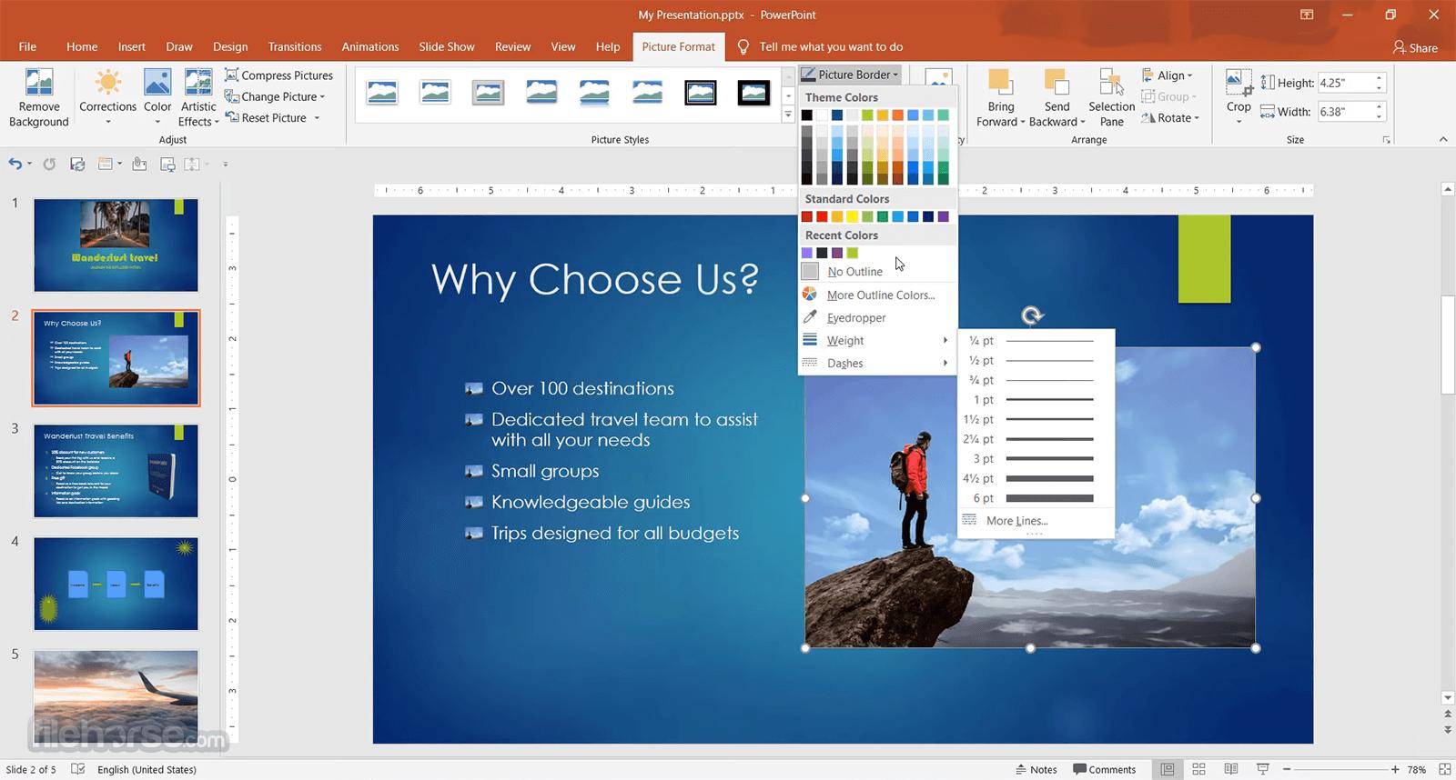 Microsoft PowerPoint 2019 Screenshot 5