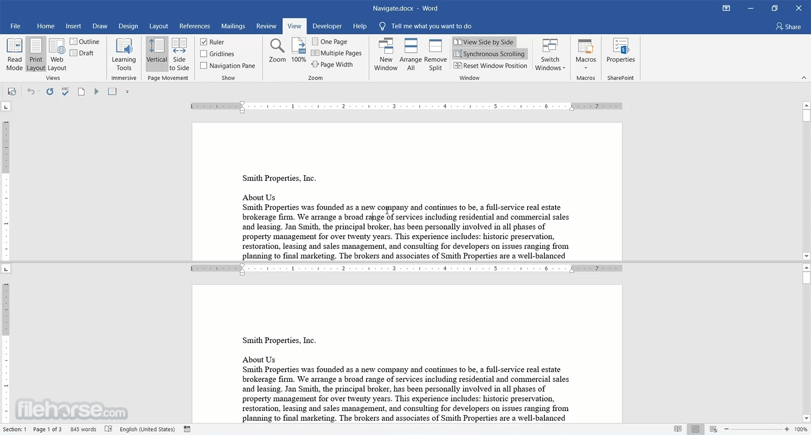 Microsoft Word 2016 Screenshot 2