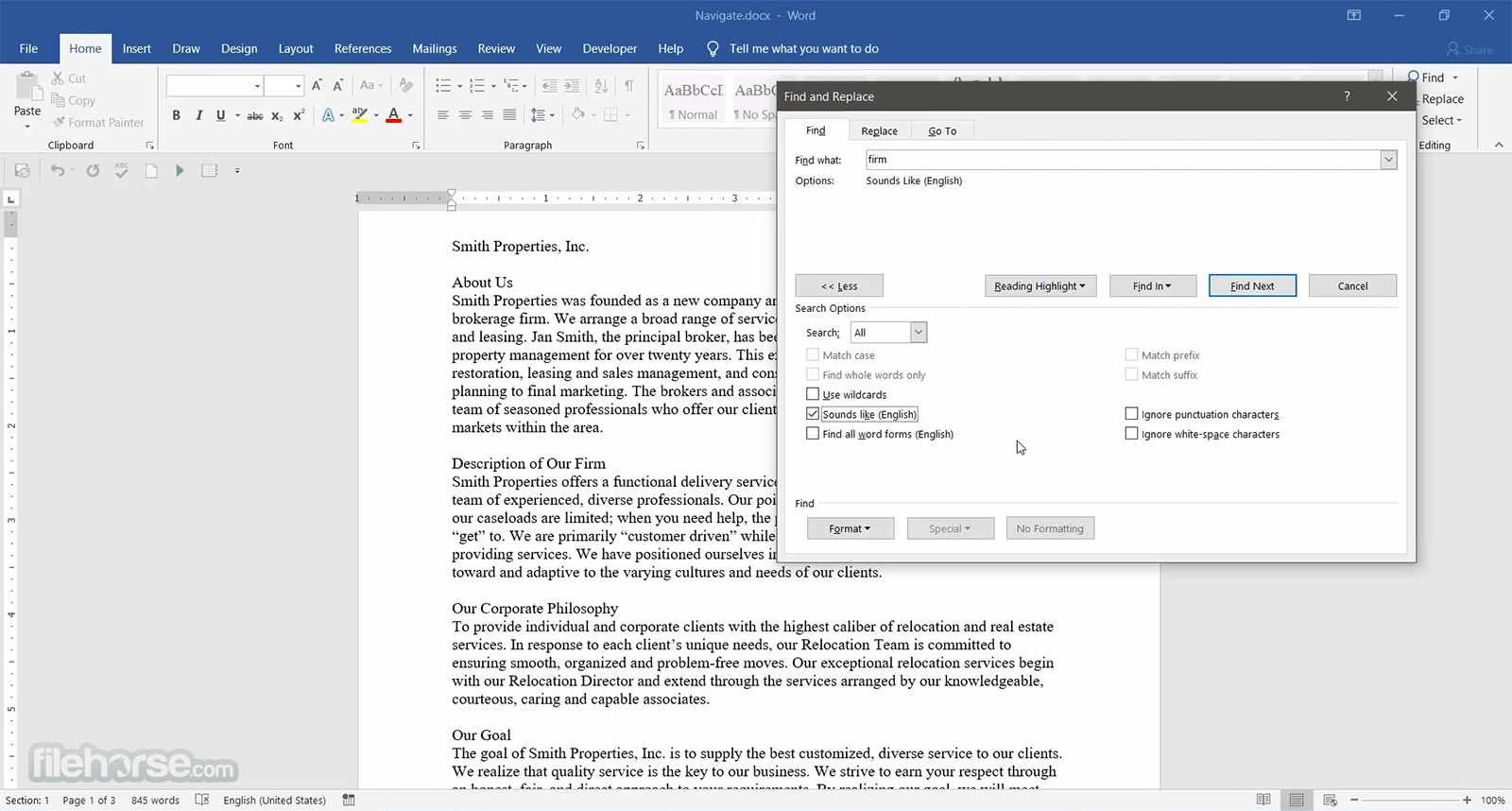 Microsoft Word 2016 Screenshot 3
