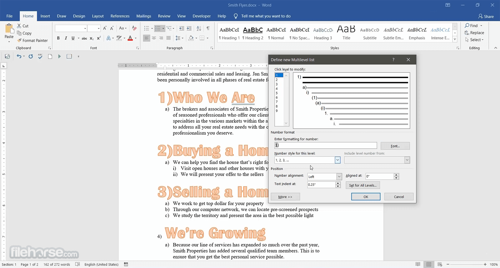 Microsoft Word 2016 Screenshot 4