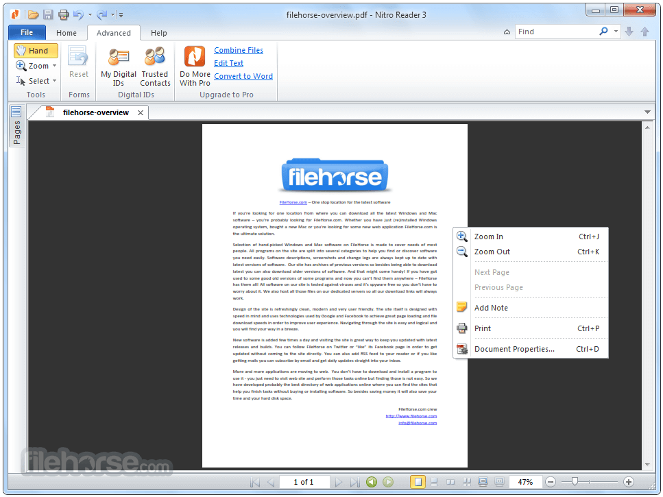 Nitro PDF Reader 5.5.9.2 (32-bit) Screenshot 2
