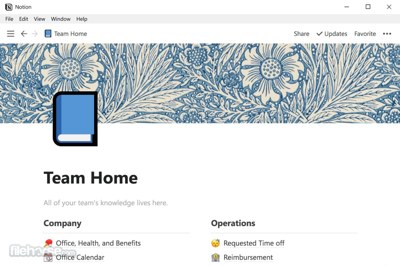 Notion 2.0.10 Screenshot 1