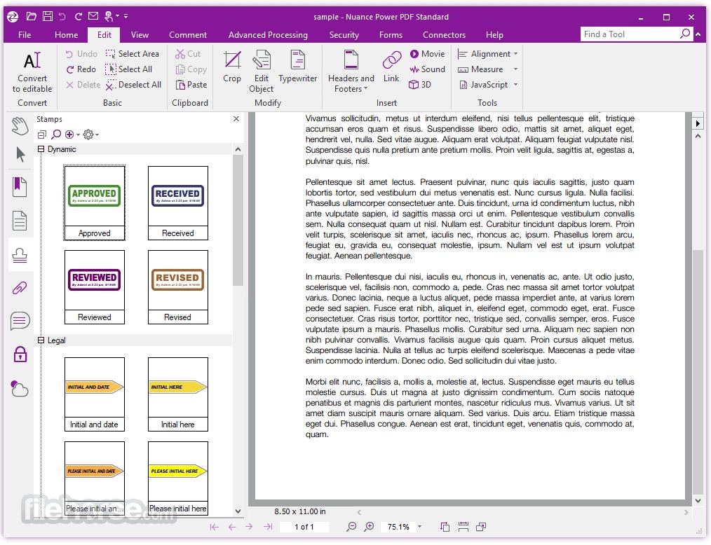 Nuance Power PDF Standard 2.10 Screenshot 3