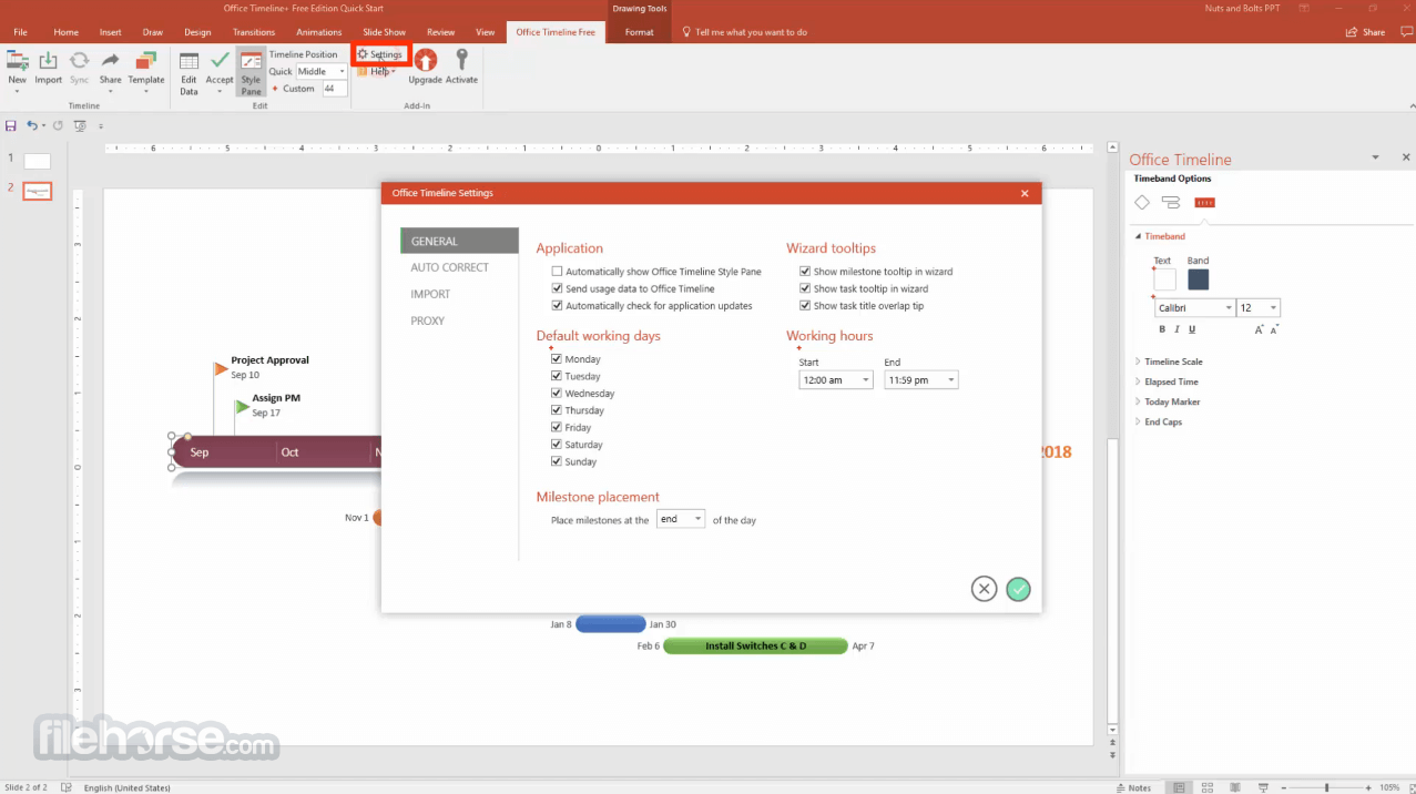 Office Timeline 4.06.01 Screenshot 4