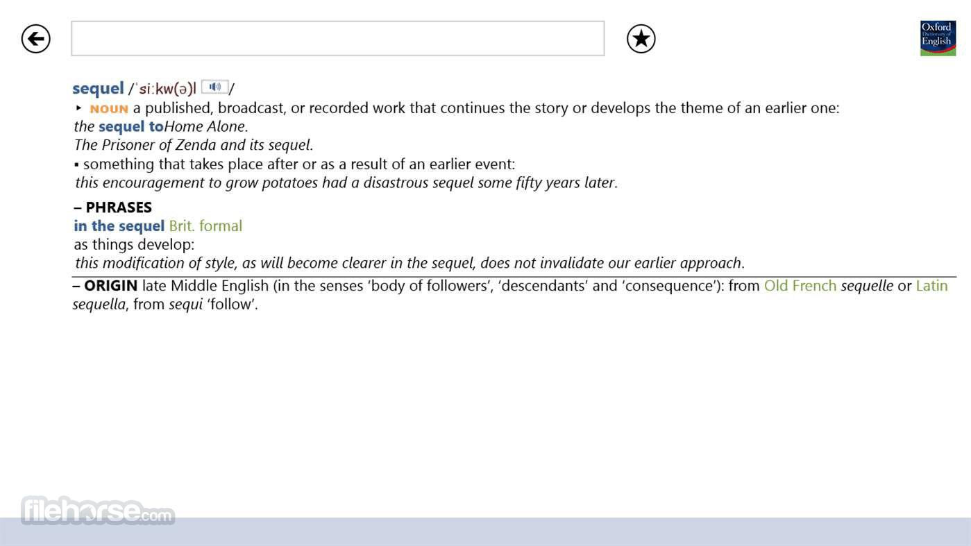 Oxford Dictionary of English 2.2.0.7 Screenshot 3