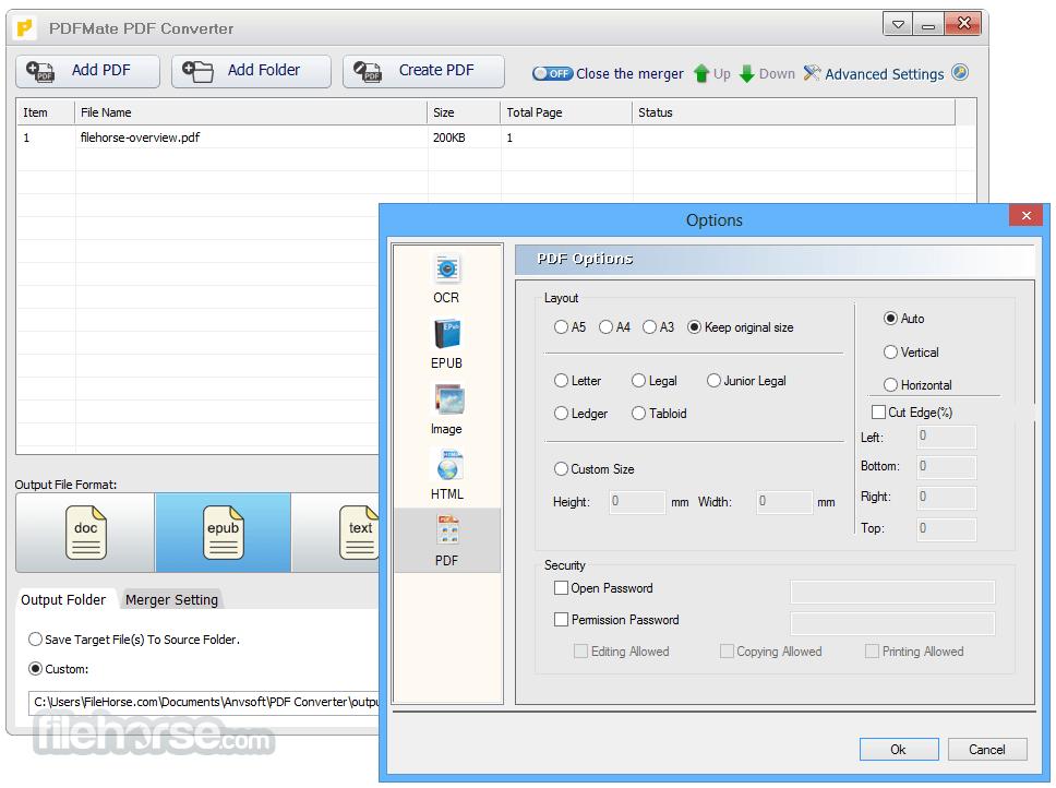 PDFMate PDF Converter Free 1.88 Captura de Pantalla 3