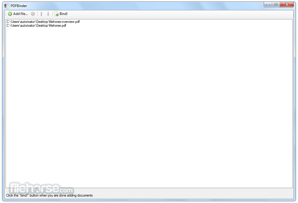 PDFBinder 1.2 Captura de Pantalla 1