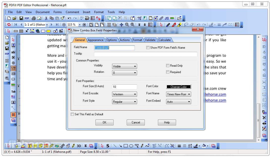 PDFill Editor Professional 15.0 Build 1 Beta Screenshot 3