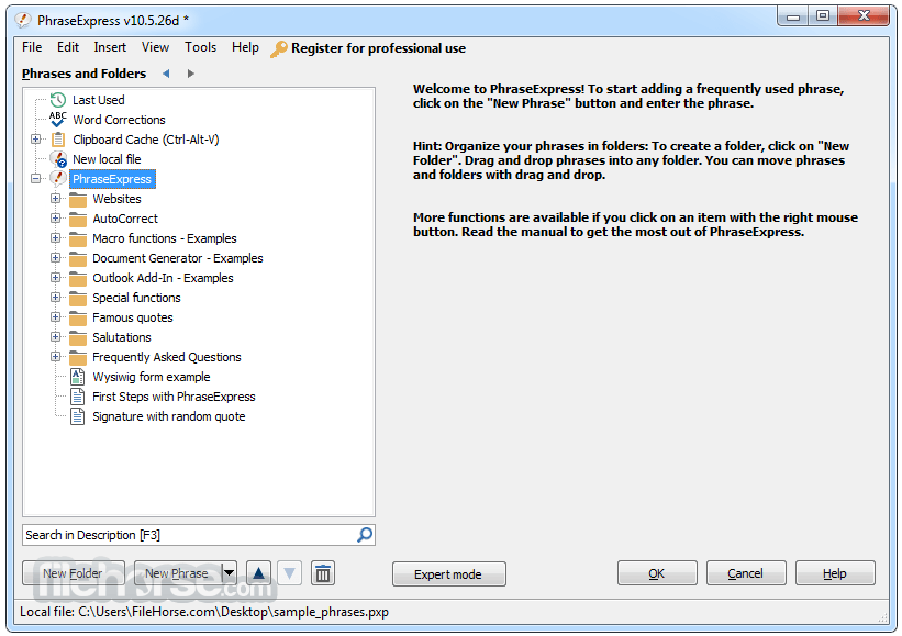 PhraseExpress 15.0.91 Screenshot 1