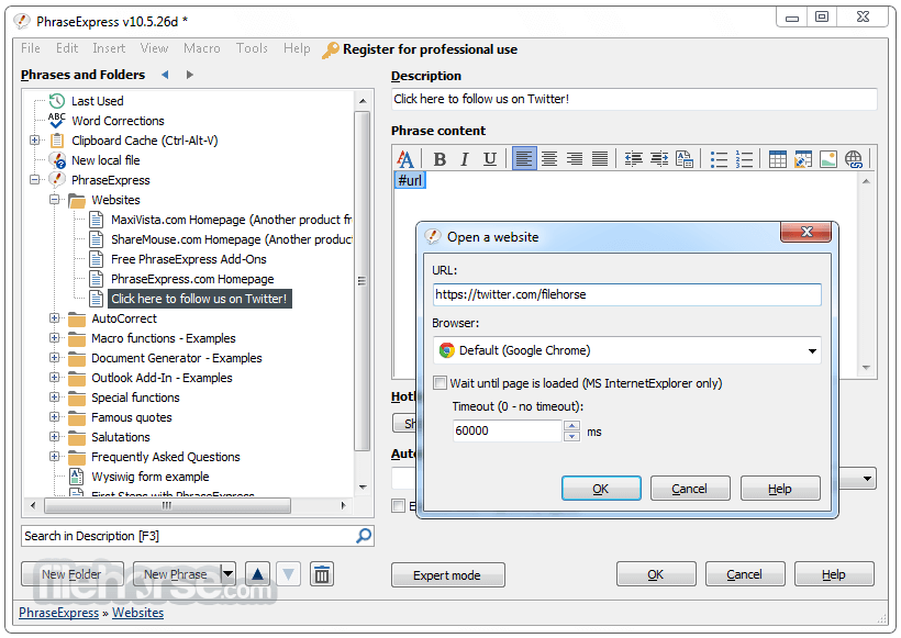 PhraseExpress 13.5.7d Screenshot 4