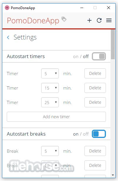 PomoDoneApp Setup 1.5.1545 Screenshot 3