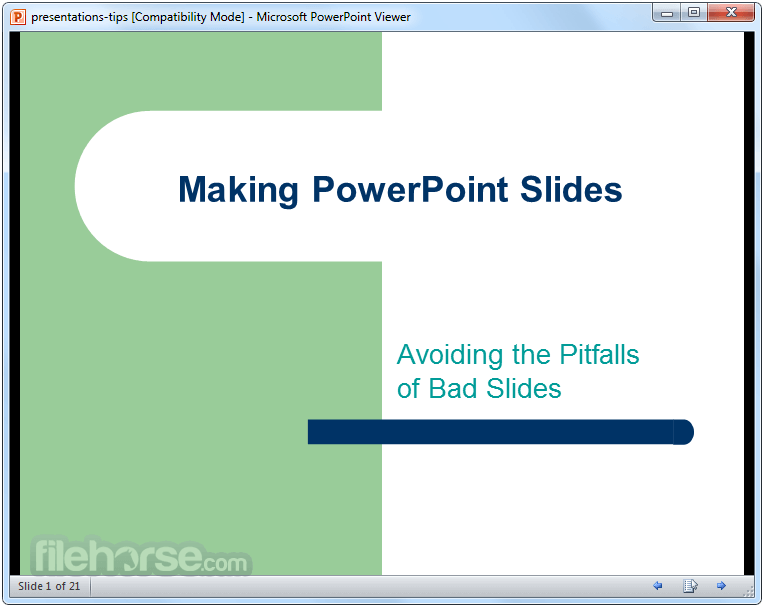 PowerPoint Viewer 14.0.4754.1000 Captura de Pantalla 1