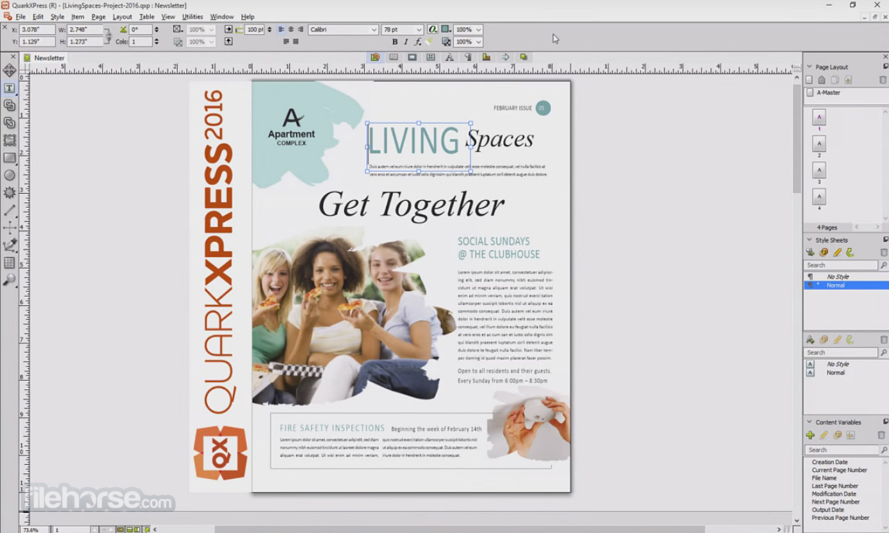 QuarkXPress 2017 13.2.1 Captura de Pantalla 1