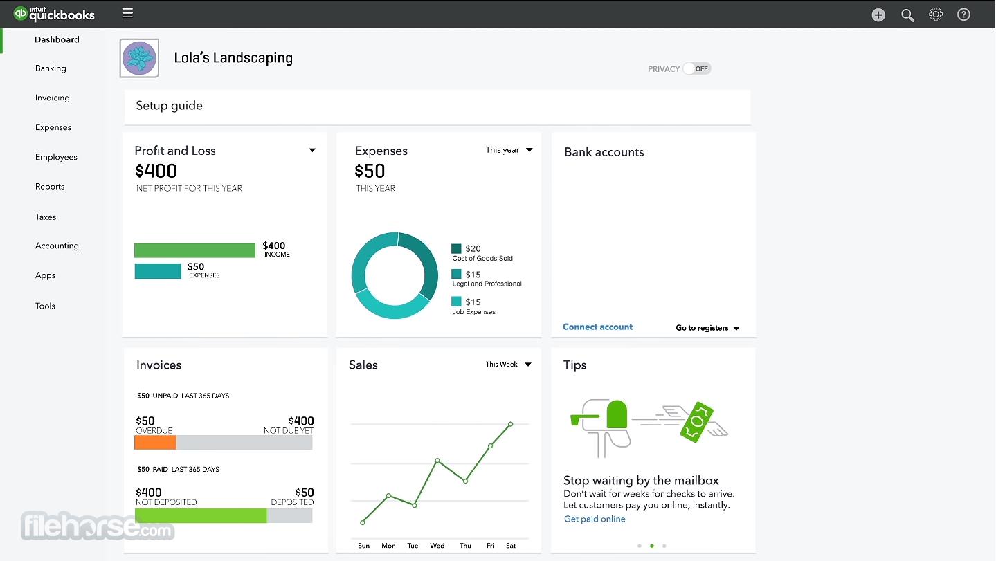 QuickBooks Online Desktop Client 5.1.0 Screenshot 1