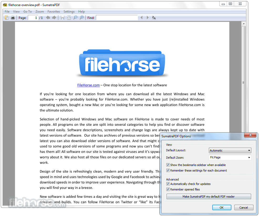 Sumatra PDF 3.1.2 (32-bit) Screenshot 3