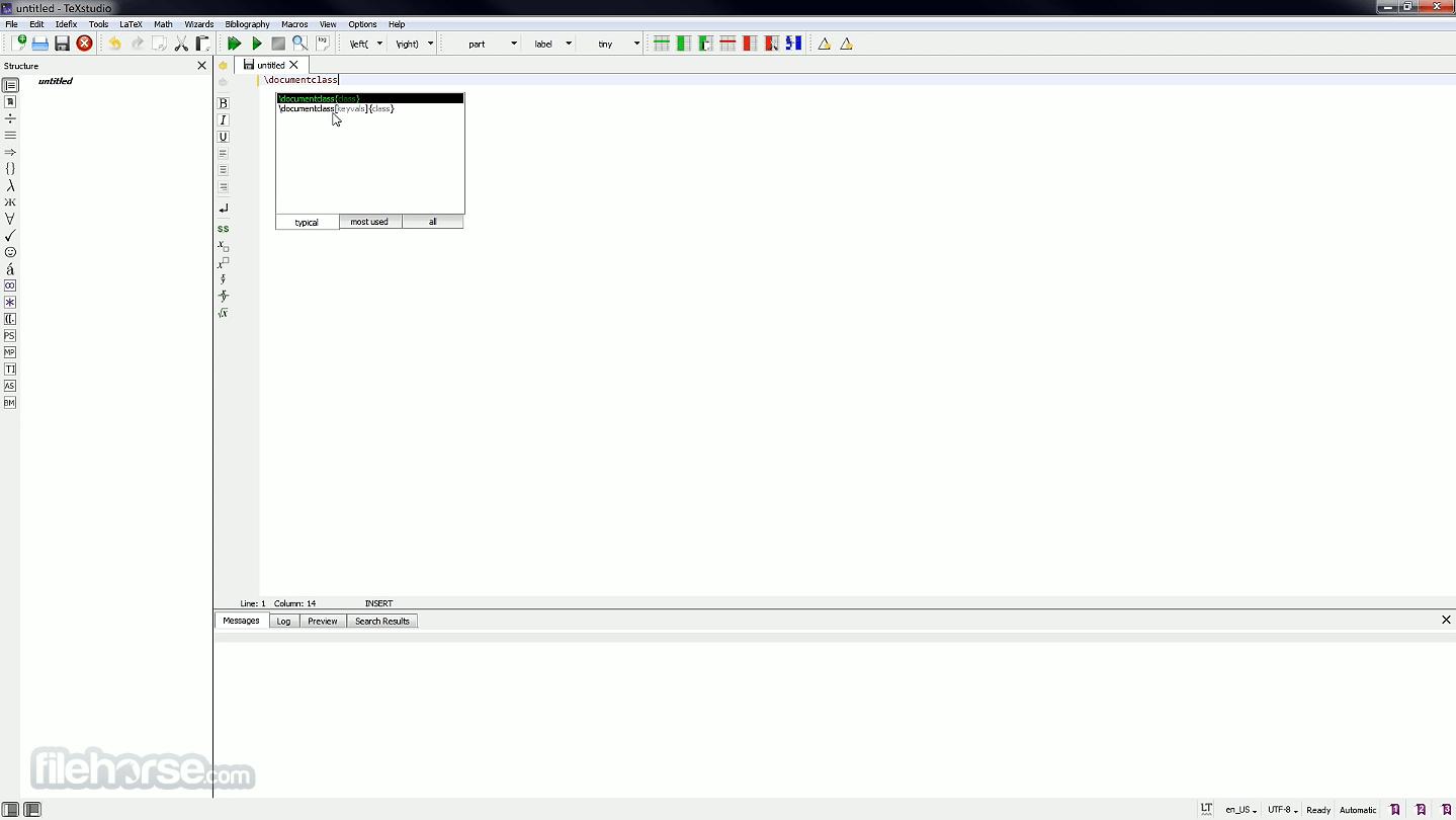 TeXstudio 3.1.2 Captura de Pantalla 1