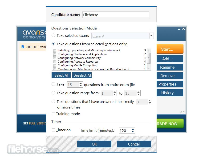 VCE Exam Simulator 2.7 Screenshot 1