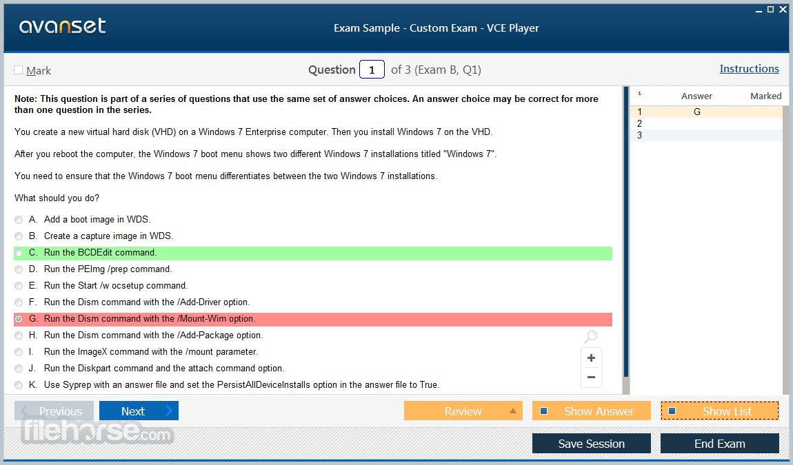 VCE Exam Simulator 2.7 Screenshot 2