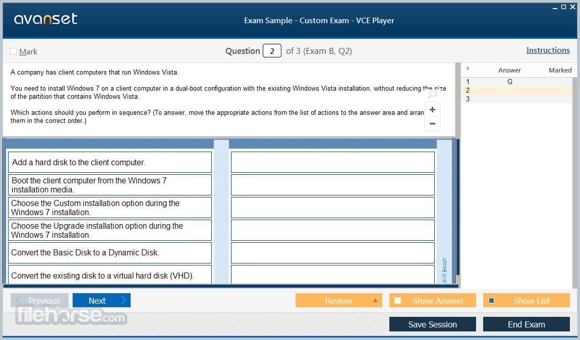 VCE Exam Simulator 2.8 Screenshot 3