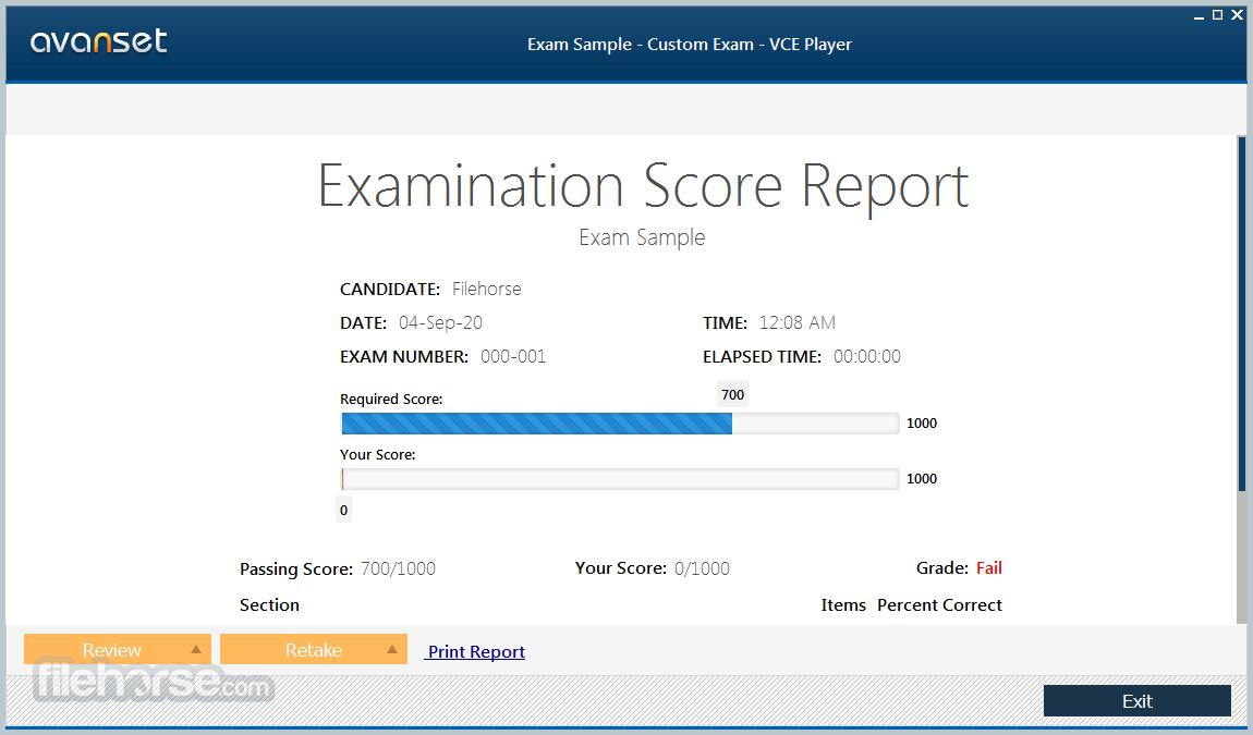 VCE Exam Simulator 2.8 Screenshot 4