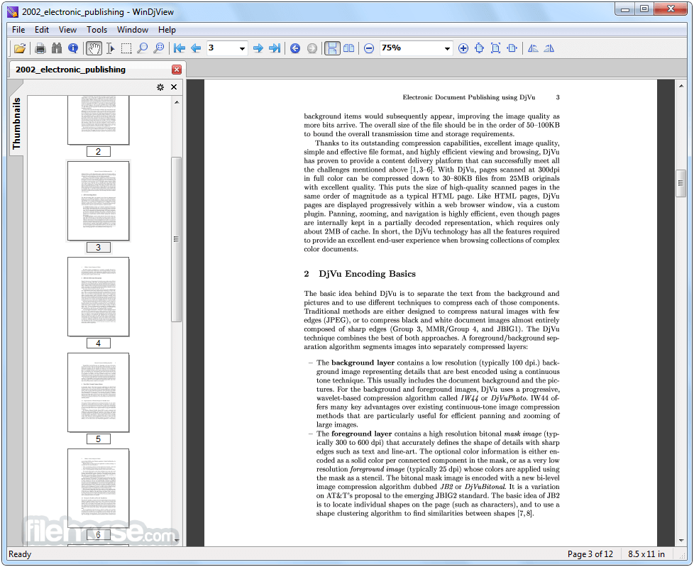 WinDjView 2.1 Screenshot 1