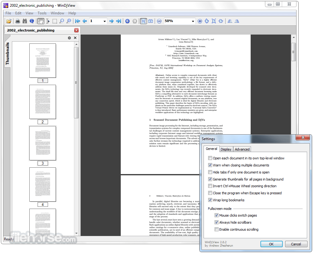 WinDjView 2.1 Screenshot 3