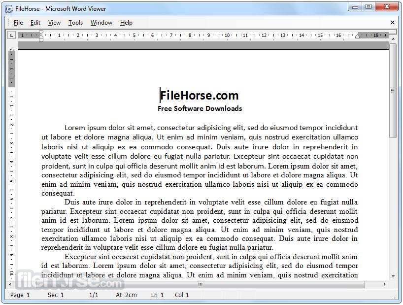 Word Viewer 1.0 Captura de Pantalla 1
