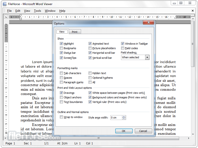 Word Viewer 1.0 Captura de Pantalla 3