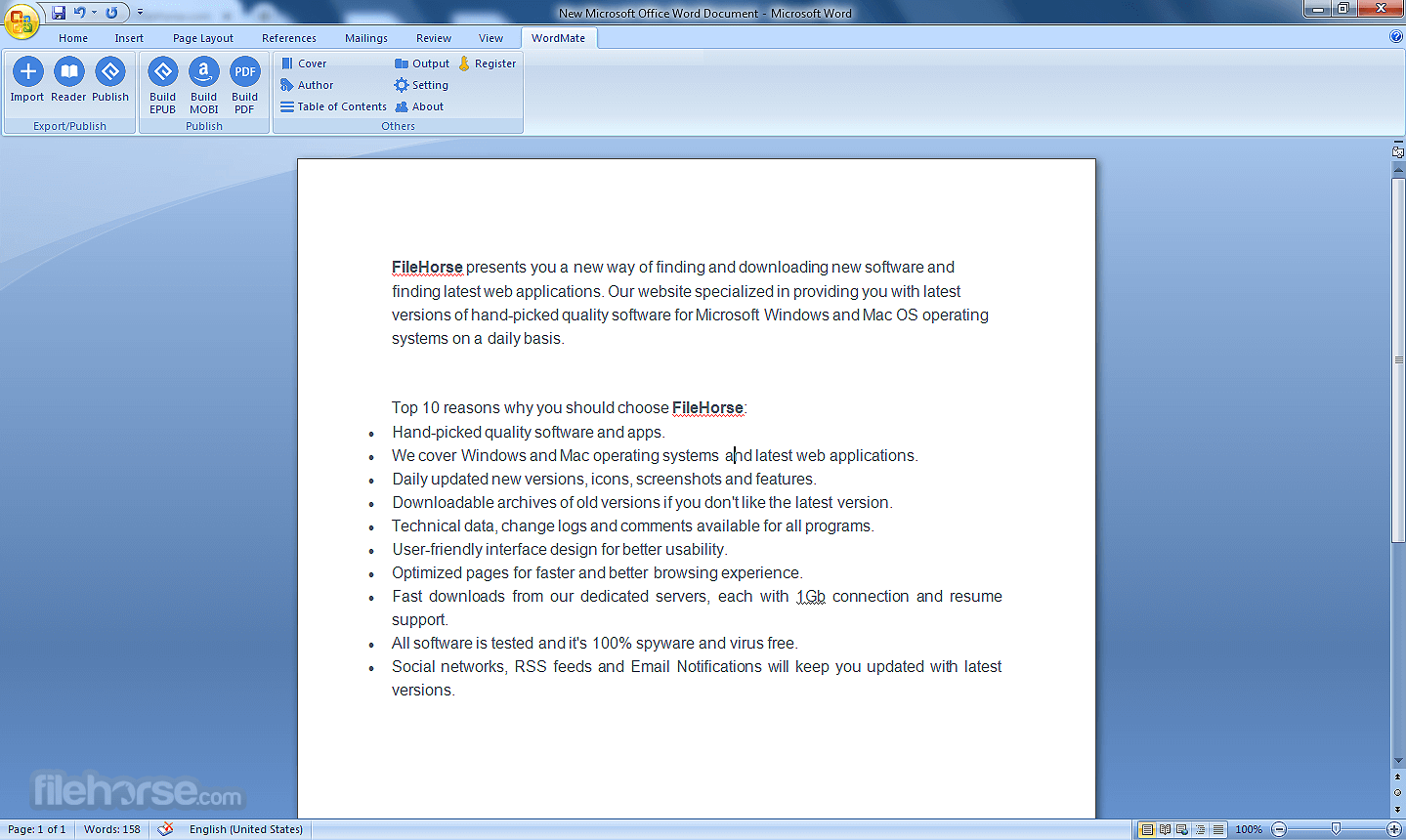 WordMate 1.0.1.48 Screenshot 1