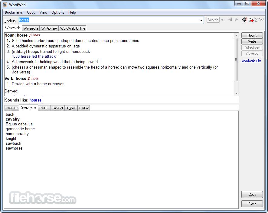 WordWeb 8.1 Screenshot 1