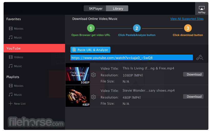 5KPlayer 4.6 Screenshot 3
