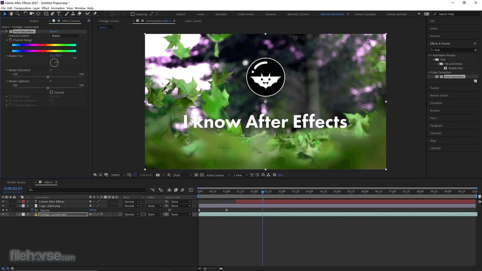 Adobe After Effects CC 2021 18.4.1 Screenshot 4