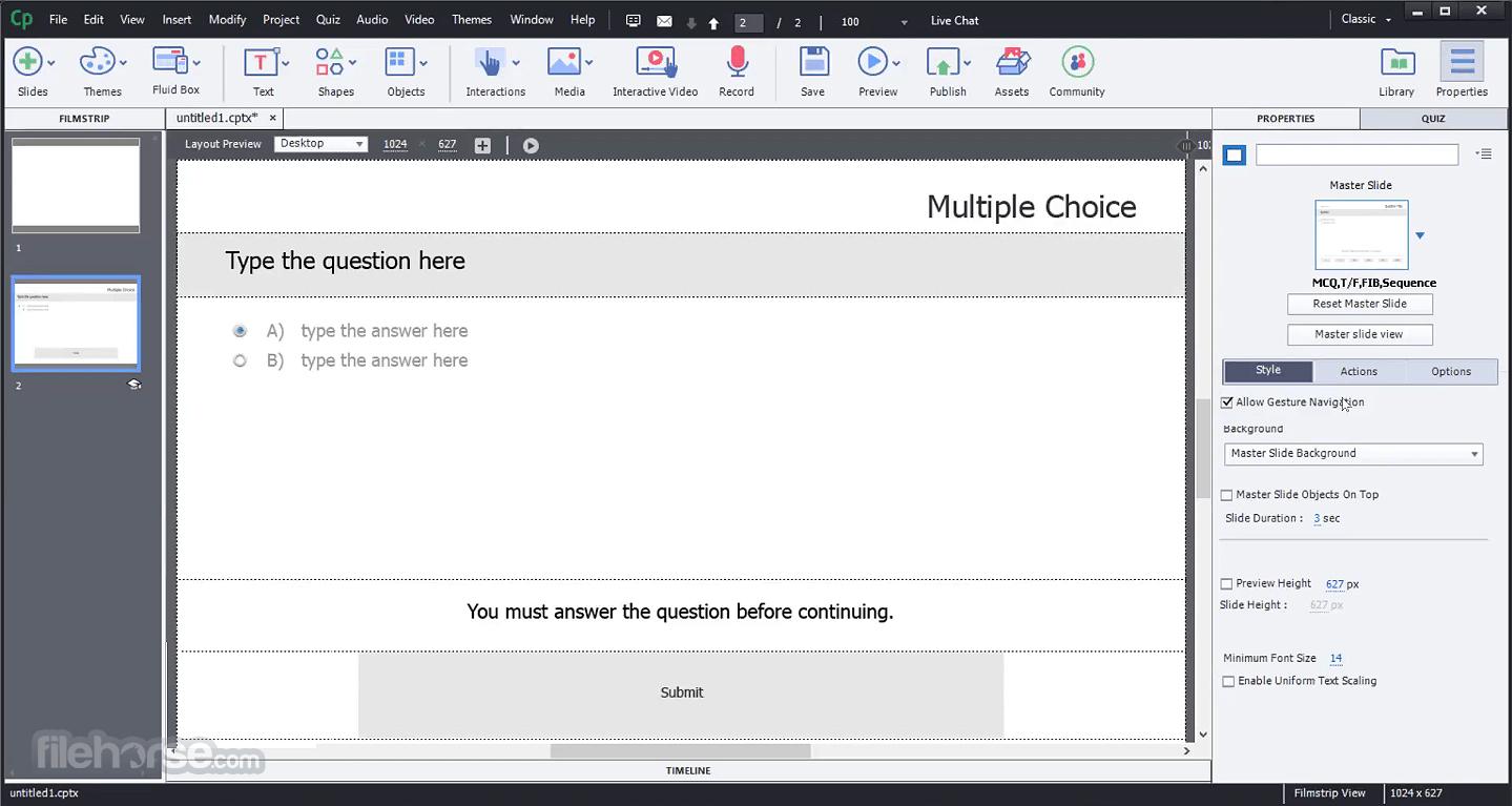 Adobe Captivate 2019 11.5.5.553 Screenshot 3