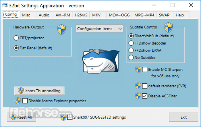 ADVANCED Codecs 10.0.0 Screenshot 1