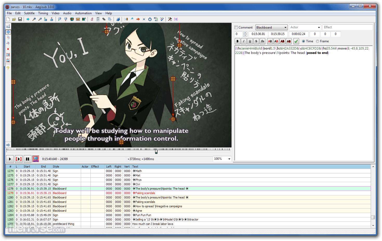 Aegisub 3.2.2 (64-bit) Screenshot 1