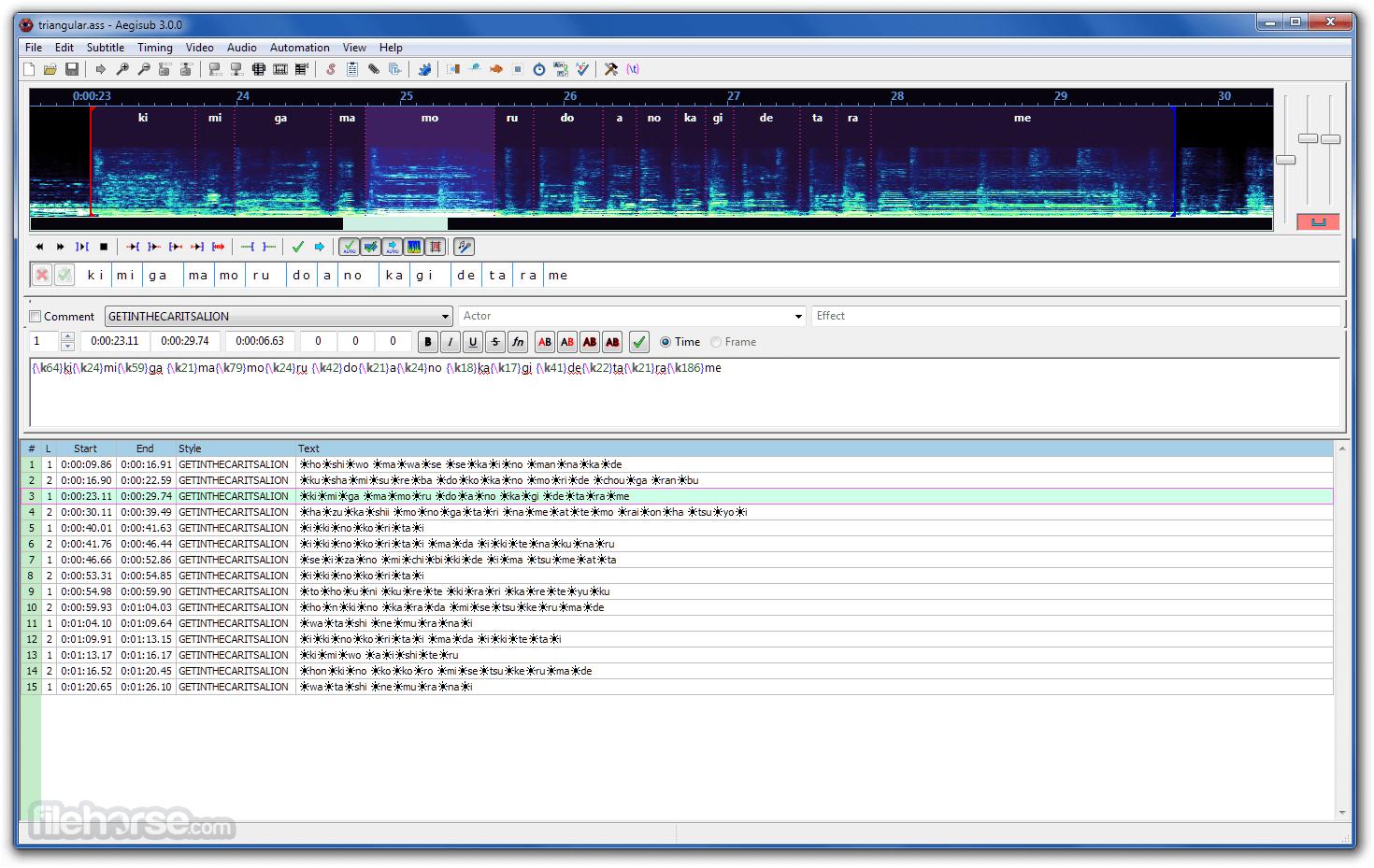 Aegisub 3.2.2 (64-bit) Screenshot 3