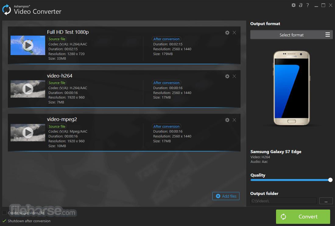 Ashampoo Video Converter 1.0.1 Screenshot 1