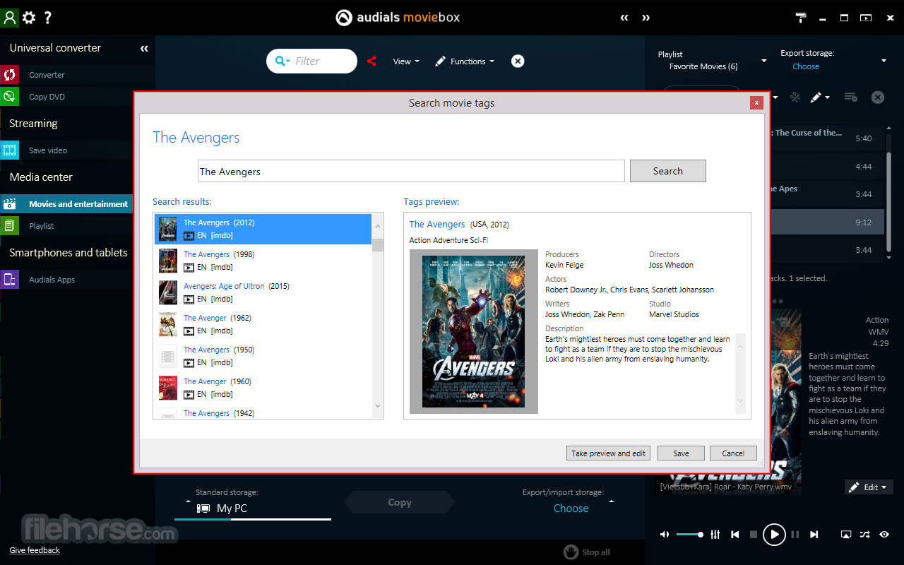 Audials Moviebox 2018.1.49500 Screenshot 3