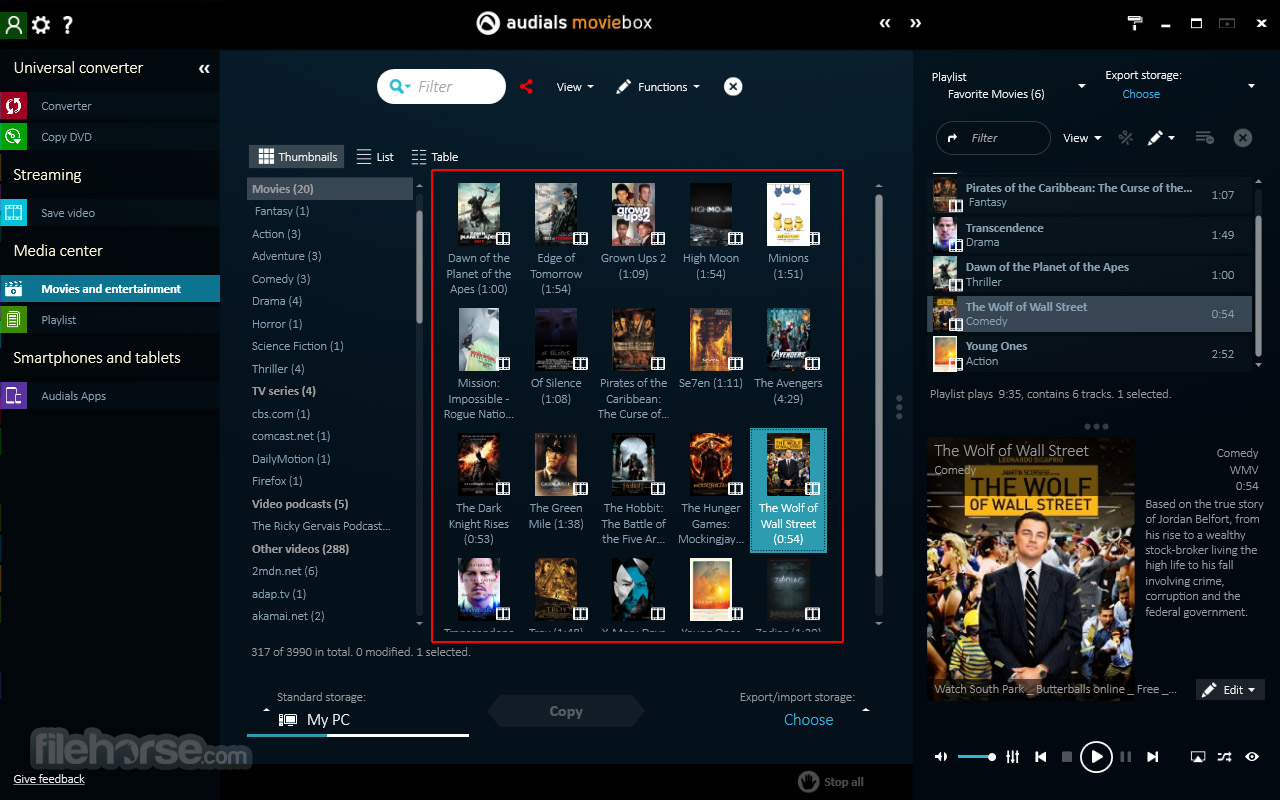 Audials Moviebox 2018.1.49500 Screenshot 4