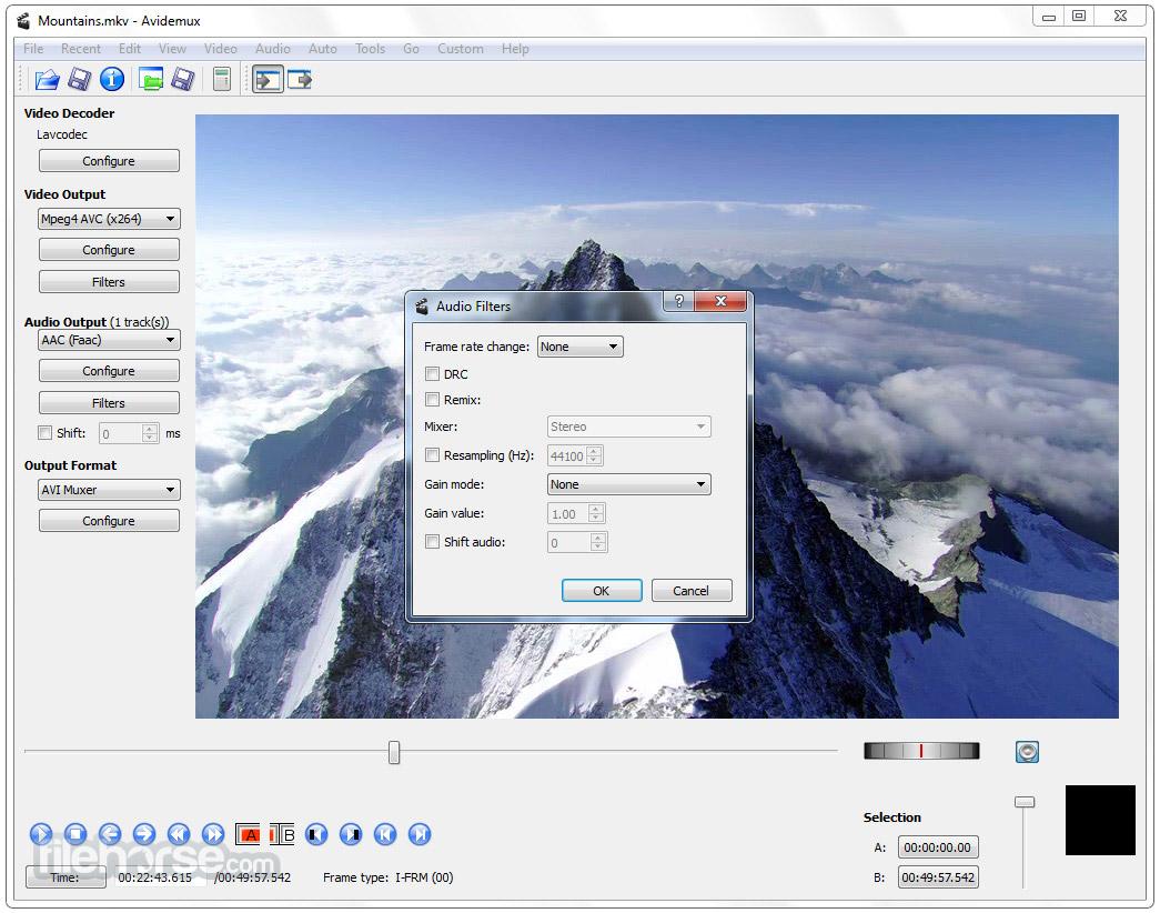 Avidemux 2.7.0 (64-bit) Screenshot 4