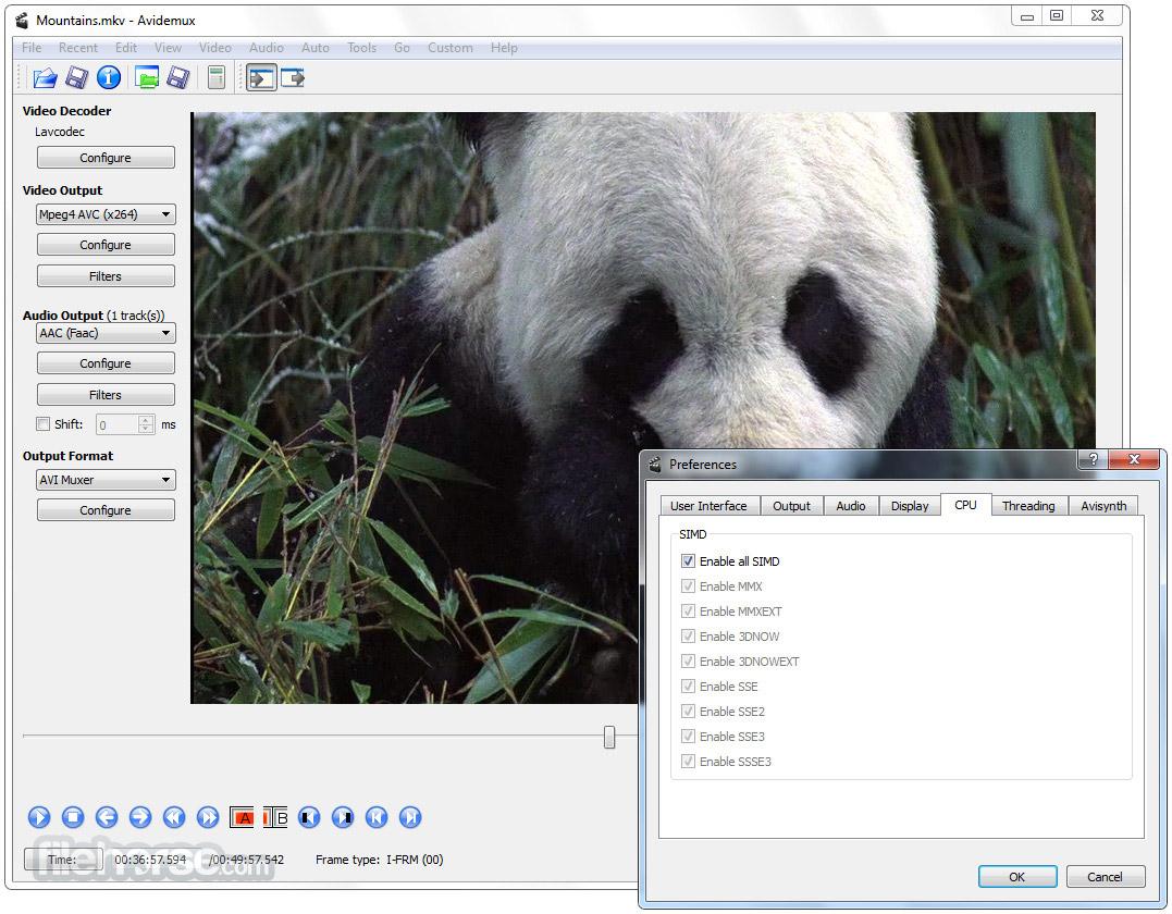 Avidemux 2.7.0 (32-bit) Captura de Pantalla 5