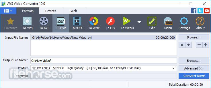 AVS Video Converter 12.1.2 Captura de Pantalla 3